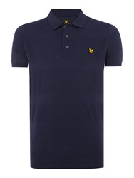 Lyle And Scott Men's Textured Stripe Polo Top Navy
