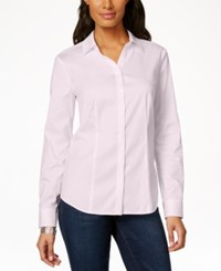 Charter Club Long Sleeve Shirt Only At Macy's Pink Savvy
