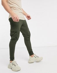 Only And Sons Cargo Cuffed Joggers In Green