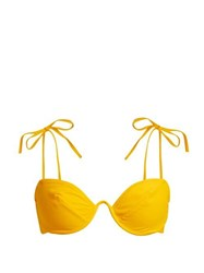 Araks Myriam Curved Underwire Bikini Top Yellow