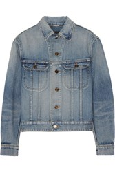 Saint Laurent Studded Denim Jacket Mid Denim