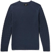 Dunhill Cable Knit Cashmere Sweater Storm Blue