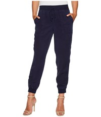 Vince Camuto Tencel Twill Ribbed Jogger Black Iris Women's Casual Pants