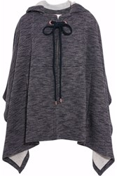 See By Chloe Hooded Jersey Cape Navy