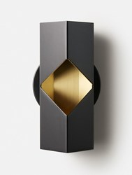 Rich Brilliant Willing Notch Wall Sconce Black