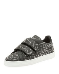 Alaia Grip Strap Leather Sneakers W Studs Black