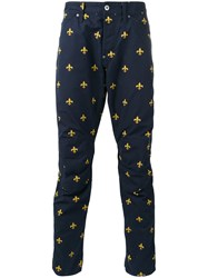 G Star Raw Research Printed Trousers Blue
