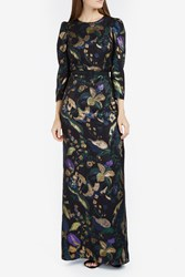 Martin Grant Metallic Jacquard Dress Green