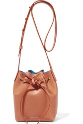 Mansur Gavriel Mini Mini Leather Bucket Bag Camel
