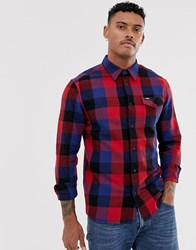 Wrangler Checked Shirt In Red