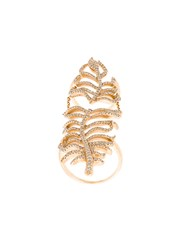 Elise Dray Leaf Cuff Ring Metallic