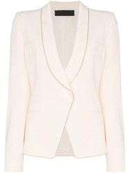 Haider Ackermann Single Breasted Fitted Blazer Neutrals