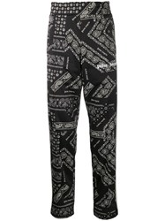 Palm Angels Paisley Print Straight Trousers Black