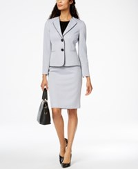 Le Suit Two Button Skirt Regular And Petite Viola Multi