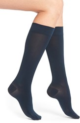 Insignia By Sigvaris Women's 'Headliner' Compression Knee High Socks Midnight Blue