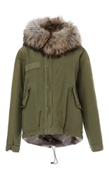 Mr And Mrs Italy Natural Lapin Mini Parka Light Grey