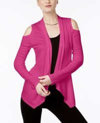 Inc International Concepts Off The Shoulder Cardigan Only At Macy's Intense Pink