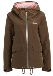 Bench Bloomers Ski Jacket Dark Brown Green