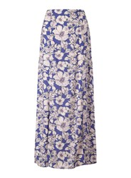 Miss Selfridge Cobalt Floral Maxi Skirt Blue