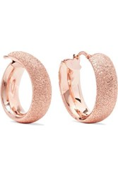 Carolina Bucci Florentine 18 Karat Rose Gold Hoop Earrings