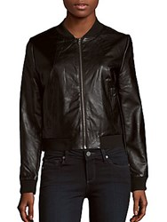 Bagatelle Long Sleeve Baseball Collar Jacket Black
