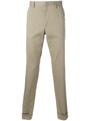 Gucci Bee Embroidered Classic Chinos Nude Neutrals