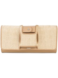 Perrin Paris La Capitale Clutch Nude And Neutrals