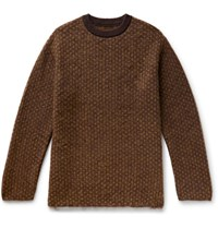 Sasquatchfabrix. Mohair Blend Jacquard Sweater Brown