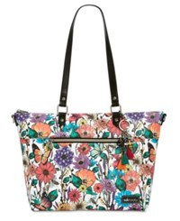 Sakroots City Tote Optic In Bloom Silver