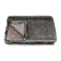 Helen Moore Faux Fur Throw 180X145cm Signature Lady Grey