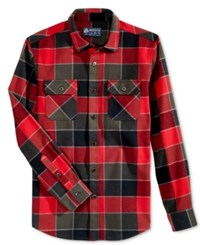 American Rag Wright Plaid Shirt Jacket Only At Macy's Red