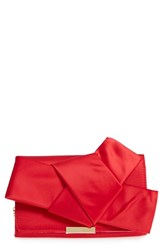 Ted Baker London Fefee Satin Knotted Bow Clutch Red Bright Red