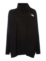 Episode Cape With Buckle Detail Black