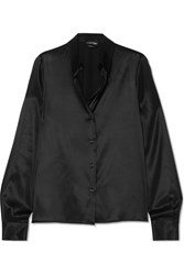 Tom Ford Silk Charmeuse Blouse Black