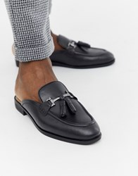 House Of Hounds Bardin Slip On Loafers In Black Leather