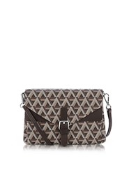 Lancaster Paris Ikon Coated Canvas And Leather Mini Clutch Brown