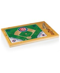 Picnic Time Chicago Cubs Icon Cutting Board Burlywood