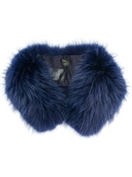 Mr And Mrs Italy Fluffy Shawl Blue