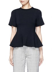 Alexander Wang Double Knit Jersey Flare Top Black