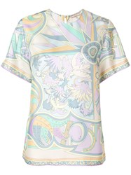 Emilio Pucci Printed T Shirt Blouse Multicolour