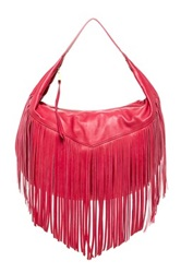 Christopher Kon Fringe Leather Hobo Pink