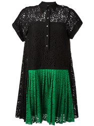 N 21 No21 Pleated Front Lace Dress Black