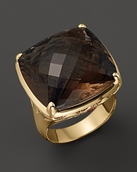Bloomingdale's Smokey Quartz And Orange Sapphire Ring In 14K Yellow Gold
