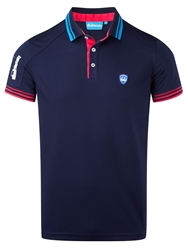Bunker Mentality Plain Polo Regular Fit Polo Shirt Navy