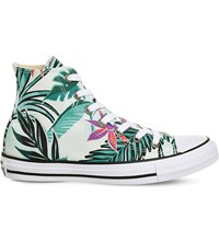 Converse All Star Canvas High Top Trainers Fibreglass Floral