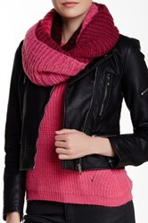 Wooden Ships Ryley Colorblock Burgundy Eternity Scarf Red