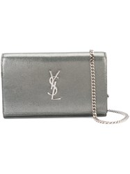 Saint Laurent Monogram Chain Wallet Women Acetate One Size Metallic