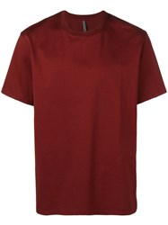 Attachment Round Neck T Shirt Red