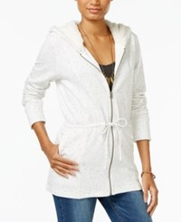 Lucky Brand Sherpa Lined Hoodie White Multi