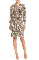 Women's Nydj 'Lauren' Pleat Back Georgette Shirtdress